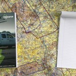 Aeronautical map, RPQ-s manual and notebook