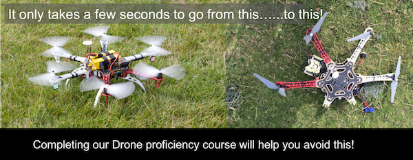 Fly safely - F550 drone before and after crash images
